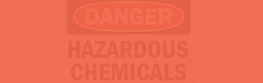 .Chemical hazard signs.