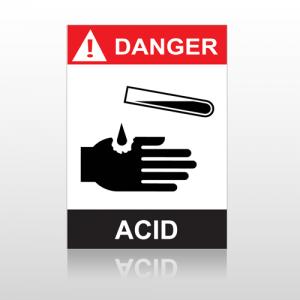 ANSI Danger Acid