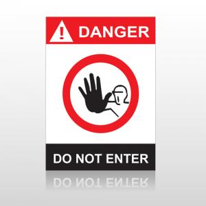 ANSI Danger Do Not Enter