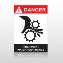 ANSI Danger Pinch Point Watch Your Hands