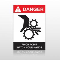 ANSI Danger Pinch Point Watch Your Hands