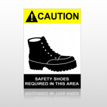 ANSI Caution Safety Shoes Required In This Area