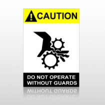 ANSI Caution Do Not Operate Without Guards