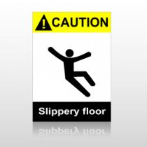 ANSI Caution Slippery Floor