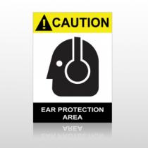 ANSI Caution Ear Protection Area