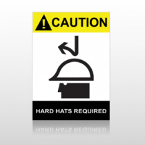 ANSI Caution Hard Hat Required