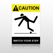 ANSI Caution Watch Your Step