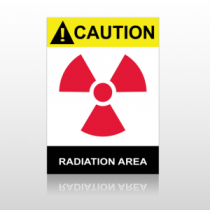 ANSI Caution Radiation Area