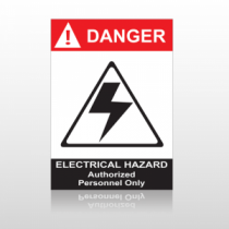 ANSI Danger Electrical Hazard Authorized Personnel Only