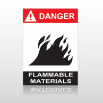 ANSI Danger Flammable Materials