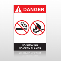 ANSI Danger No Smoking No Open Flames Email to a Friend
