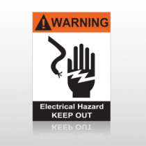 ANSI Warning Electrical Hazard Keep Out