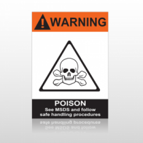 ANSI Warning Poison See Msds And Follow Safe Handing Procedures
