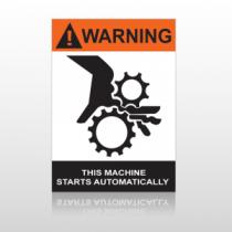 ANSI Warning This Machine Starts Automatically