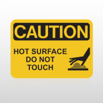 OSHA Caution Hot Surface Do Not Touch