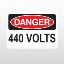 OSHA Danger 440 Volts