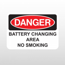 OSHA Danger Battery Changing Area No Smoking