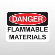 OSHA Danger Flammable Materials