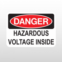 OSHA Danger Hazardous Voltage Inside