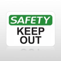 OSHA Safety Keep Out