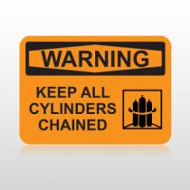 OSHA Warning Keep All Cylinders Chained
