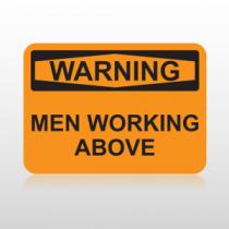 OSHA Warning Men Working Above