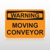 OSHA Warning Moving Conveyor