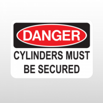 OSHA Danger Cylinders Must Be Secured