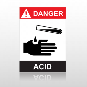 ANSI Danger Acid