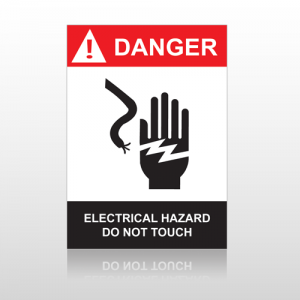 ANSI Danger Electrical Hazard Do Not Touch