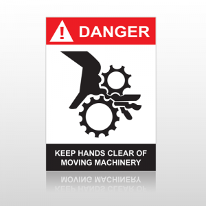ANSI Danger Keep Hands Clear Of Moving Machinery
